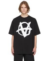 Vetements Black Double Anarchy T Shirt