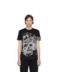 Alexander McQueen Black Etched Skull T Shirt