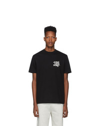 Aimé Leon Dore Black Flocked T Shirt
