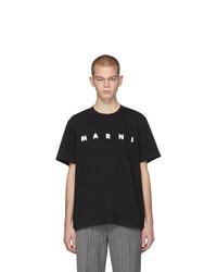 Marni Black Front Logo T Shirt