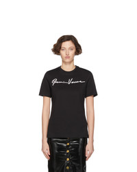 Versace Black Gianni Embroidered T Shirt