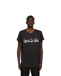 Ann Demeulemeester Black God Of Wild Fine T Shirt