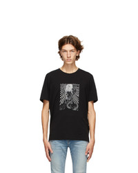 Saint Laurent Black Graphic T Shirt