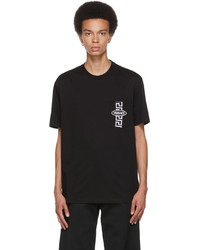 Versace Black Greca Chest Pocket T Shirt