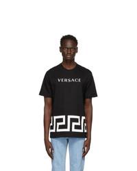 Versace Black Greca Logo T Shirt