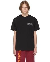 Vetements Black Human Identity T Shirt