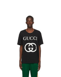 Gucci Black Interlocking G T Shirt