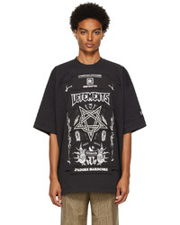 Vetements Black Limited Edition Hardcore Patched Logo T Shirt
