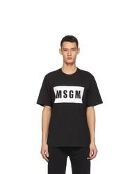 MSGM Black Logo Box T Shirt