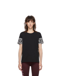 Kenzo Black Logo Piping T Shirt