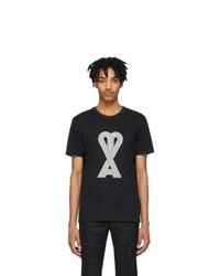 AMI Alexandre Mattiussi Black Logo T Shirt