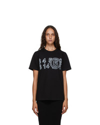 MM6 MAISON MARGIELA Black Logo T Shirt