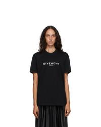Givenchy Black Masculine Paris Logo T Shirt