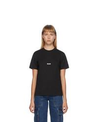 MSGM Black Micro Logo T Shirt