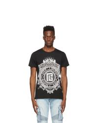 Balmain Black Monogram T Shirt