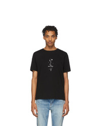 Saint Laurent Black Mystique Print T Shirt