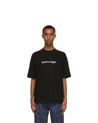 Balenciaga Black New Copyright Large Fit T Shirt
