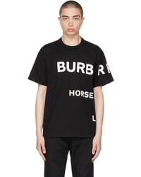 Burberry Black Oversized Horseferry Print T Shirt