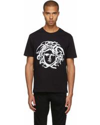 Versace Black Painted Medusa T Shirt