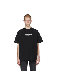 Vetements Black Postage T Shirt