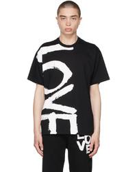 Burberry Black Print Oversized Love T Shirt