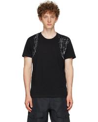 Alexander McQueen Black Printed Harness T Shirt