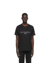 Givenchy Black Printed Patch Logo T Shirt