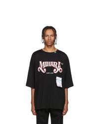 Miharayasuhiro Black Printed T Shirt
