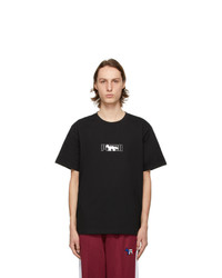 MAISON KITSUNÉ Black Puma Edition Logo T Shirt