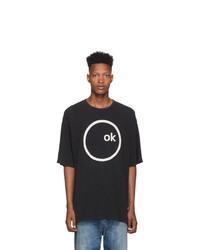 R13 Black Radiohead Edition Oversized Ok Computer T Shirt