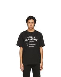 Stella McCartney Black Shared Organic Cotton 23 Obs T Shirt