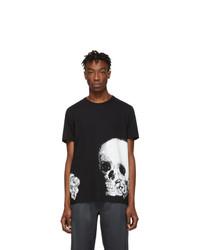 Alexander McQueen Black Skull Rose T Shirt