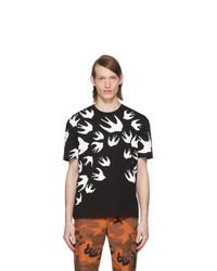 McQ Alexander McQueen Black Swallow T Shirt