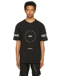 Hood by Air Black Veteran Stars T Shirt
