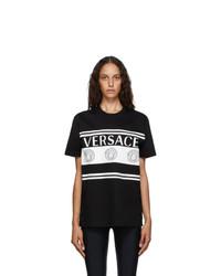 Versace Black Vintage Medusa Logo T Shirt