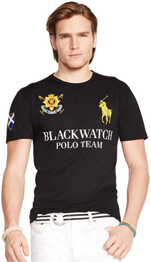 618f004dd53f ... Polo Ralph Lauren Black Watch Performance Jersey Crew Neck T Shirt ...