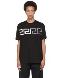 Versace Black White Greca T Shirt
