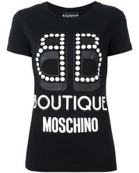 Moschino Boutique Logo Print T Shirt