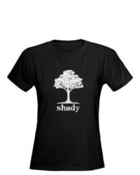 CafePress.com Shady White Print Dark T Shirt