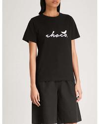 Chocoolate Logo Print Cotton Jersey T Shirt