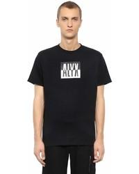 Color Block Logo Print Jersey T Shirt