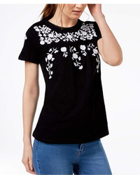 Charter Club Cotton Floral Print T Shirt Created For Macys