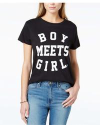 Boy Meets Girl Cotton Logo Graphic Print T Shirt