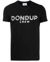 Dondup Crew Neck Logo Print T Shirt