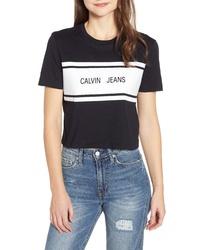 Calvin Klein Jeans Crop Logo Tee
