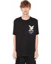 MHI Eagle Embroidered Cotton Jersey T Shirt