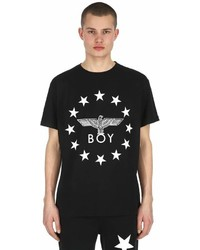 Boy London Globe Star Printed Jersey T Shirt