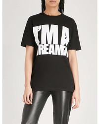 Gareth Pugh Im A Dreamer Print Cotton Jersey T Shirt