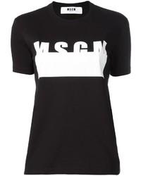 MSGM Logo Print T Shirt