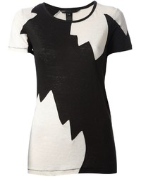 Marc by Marc Jacobs Jagged Print Monochrome T Shirt